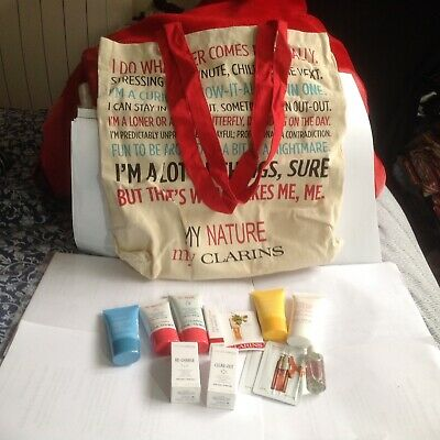 CLARINS Gift SET/HOLIDAYS/Birthday/10ITEMS+BAG/Party/Travel/Cheap Gift/Christmas