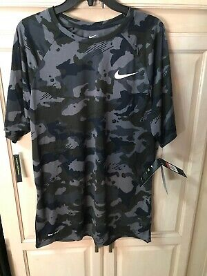 a6bd3399 NWT$25 Men's Nike Dri Fit Camo Tee Shirt Size L 923524 Standard Fit Dark  Green