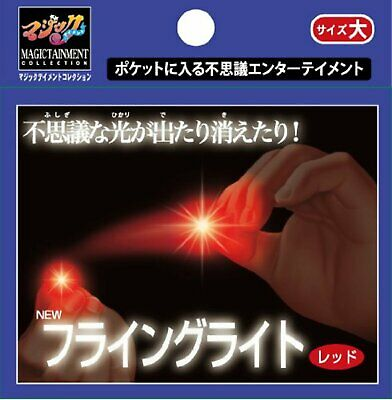 Tenyo MAGIC Trick NEW FLYING LIGHT RED LARGE Free Shipping w/Tracking# New Japan