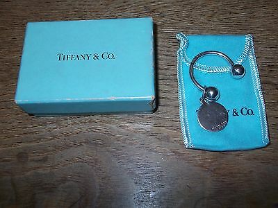 7be0c54f6 AUTHENTIC TIFFANY & CO ROUND TAG KEY RING /KEY CHAIN NEW - $88.00 ...