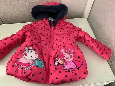 Girls' Pink 'Peppa Pig' Padded Coat 12-18 Months New Gift Cute Baby Tv  RRP £32