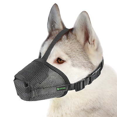 RockPet Nylon Mesh Dog Muzzle with Overhead Strap for Small,Medium and Large and
