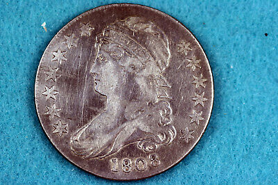 Estate Find 1808  Capped Bust Half Dollar  #D9124