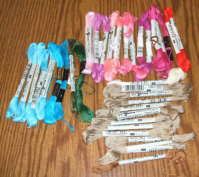 Lot of 35 DMC Skeins Thread~Cross Stitch/Embroidery~New Vintage Galaxy