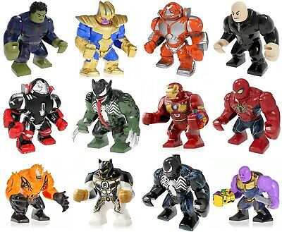 NEW Big Figures Thanos Korg Spiderman Super Avengers Fits in small lego Bricks