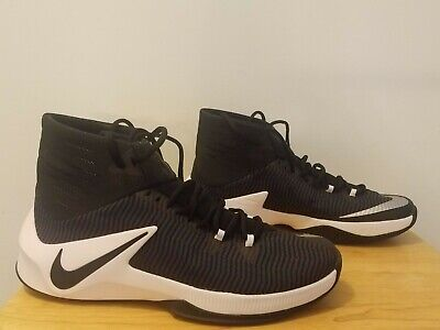 15268ff71ff47 Men Nike Zoom Clear Out TB Basketball Shoes Size 12 Black White 844372 002