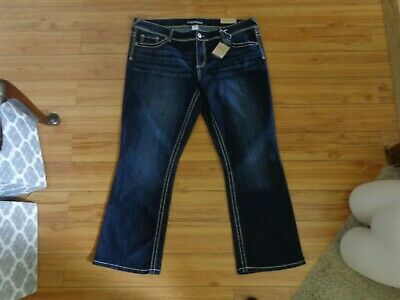 f5f06aad1c69df New womens Maurices slim boot cut jeans size 22 short dark wash contrast  stitch