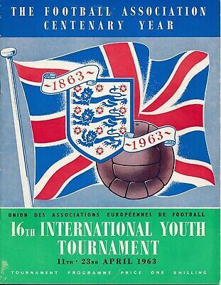 FA YOUTH International Tournament 1963 - includes England