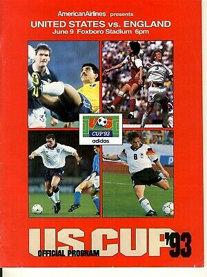USA v England (US Cup in Boston) 1993