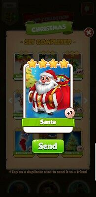 Coin Master Cards Santa Fast Delivery ONLY 1