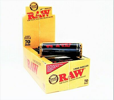 RAW 2 Way Roller Adjustable Hemp Plastic 70mm Cigarette Tobacco NEW