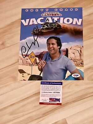 Chevy Chase Signed 8x10 Photo National Lampoons Vacation PSA/DNA