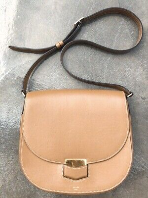 222795243 Authentic CELINE Trotteur Medium Phoebe Philo tan color handbag crossbody  bag
