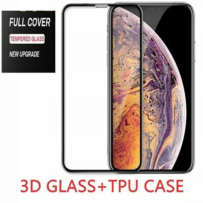 Screen Protector for iPhone XR,XS,XS MAX Case Friendly FULL COVER TEMPERED GLASS