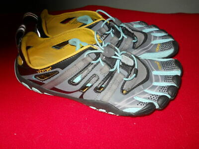 273eb7196d Vibram Five Fingers Treksport Sandal 13W4304 Gray Aqua Black Womens US 9 EU  40