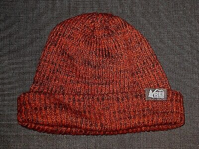 484dbf07 Rei Coop Red Black Knit Beanie Wool Blend Hat Men's Women's One Size Osfa