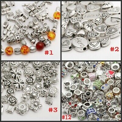 Wholesale 500X Tibet Silver Beads Spacer For Jewelry Making European Bracelet OU
