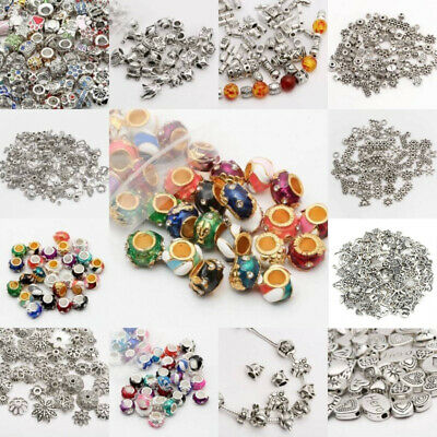 Wholesale Antique Mixed Tibet Silver Beads Spacer Jewelry Making Bracelet DIY CA