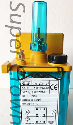 Yeong Dien CNC SMA-601-5F 110V 2L FLOAT-SWITCH INTERMITTENT LUBRICATION PUMP CE