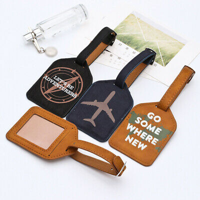 Travel Suitcase Luggage Tag Bag Tags Address Name Id Label Baggage Card Holder