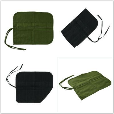 Multifunction Roll Up Canvas Large Pencil Case Draw Pen Paint Brush Bag Tool Bag
