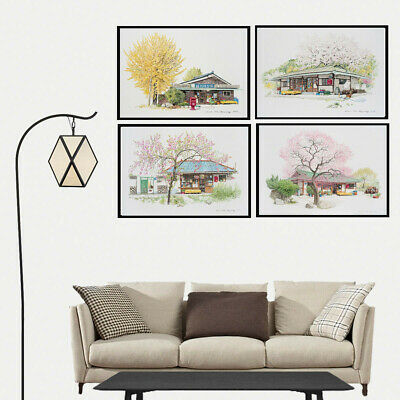 Canvas Painting Spring Store Courtyard Poster Bedroom Corridor Wall Art Decor