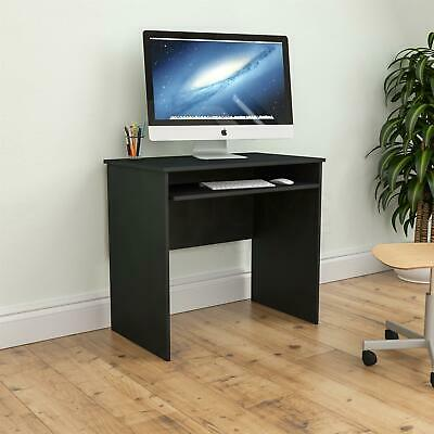 Huby Computer Desk Compact Laptop PC Table Home Office Study Keyboard Tray Black