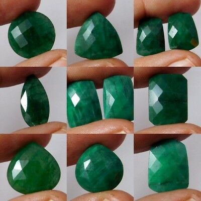Natural Dyed Faceted Emerald Cut Gemstone AQ779-814,W436-634 Free Shipping