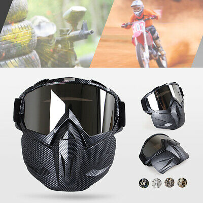 H022 Hunting War Game Field Tactical Airsoft Paintball Full Face Mask PC Lens