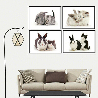 Cat Rabbit Kitten Canvas Painting Poster Home Corridor Stairs Wall Hangings Deco