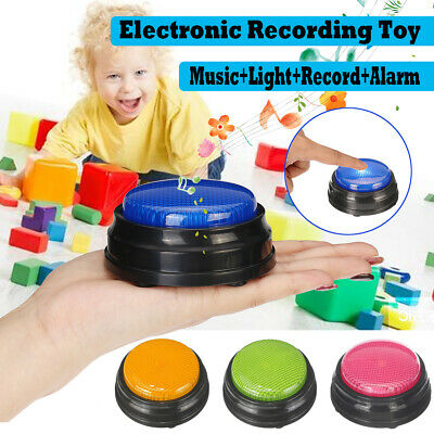 Squeeze Recordable Talking Button Game Answer Buzzer Alarm Button 4 color Led