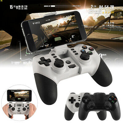 ZM-X6 Bluetooth Game Controller with Phone Holder for Android IOS Black/White