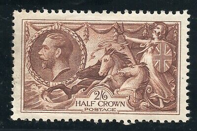 KGV 1934 Seahorse  Re-engraved Sg 450 --- 2/-6d brown ( mounted mint with gum )