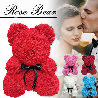 40cm Love Teddy Bear Rose Box Foam Flower Valentine's Day Gift Wedding Birthday