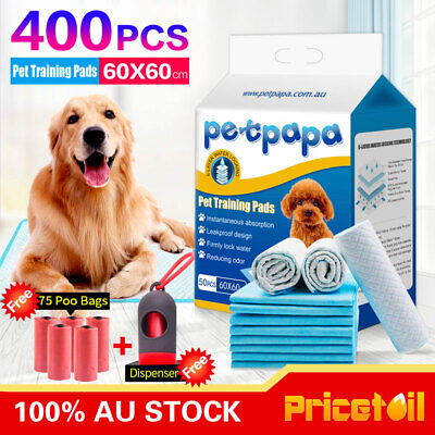 OZ Premium 400 Puppy Pet Dog Cat Toilet Potty Training Pads 60x60cm