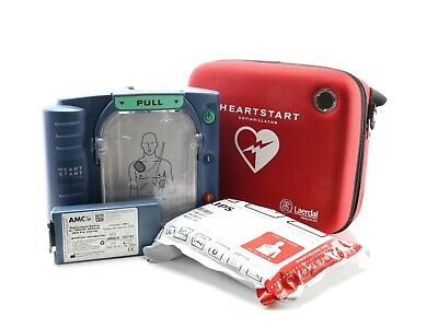 Philips Laerdal Heartstart HS1 AED Defibrillator with Case New Pads +New Battery