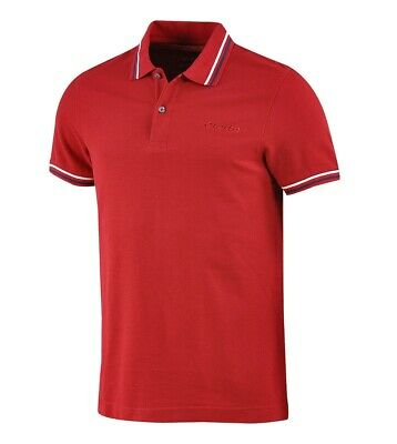 Polo Uomo Colletto Maniche Corte Rossa Logo LOTTO Sport L73 Piquet GIOSAL
