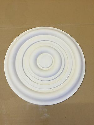 Elegant Small Plaster Ceiling Rose Victorian /Edwardian X 2