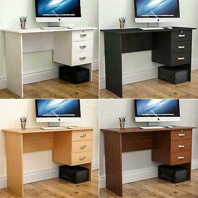 Charles Computer Desk 3 Drawer Laptop PC Table Home Office Workstation Study