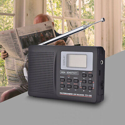 Portable Digital World Full Band Radio Receiver AM/FM/SW/MW External Antenna
