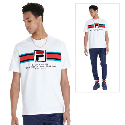 Fila  Vintage LM911255 Barton Applique Box Logo T-Shirt Navy