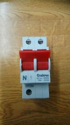 Crabtree 100/M12 100 Amp Double Pole Main Switch