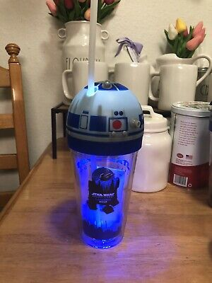 Disneyland Star Wars Galaxy Edge Landing R2-D2 Light Up Tumbler + Sound Effects