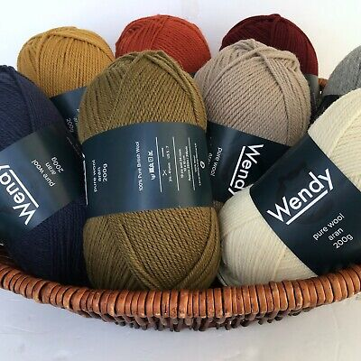 Wendy pure wool aran Knitting yarn 200 grams lovely rustic colours