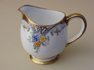 Royal Albert Milk Jug Creamer Crown China Art Deco Pat 7320 Un-Named c 1930
