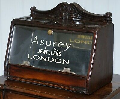 Lovely 1940'S Counter Top Asprey London Jewellers Haberdashery Display Case