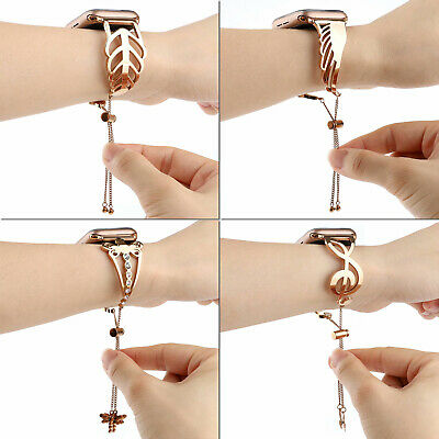 40/44mm Stainless Steel iWatch Band Strap Women Bracelet for Apple Watch 5 4 3 2