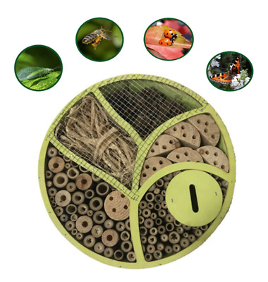 2630 Bark Wooden Insect Bee House Natural Wood Bug Hotel Shelter Garden Nest Box