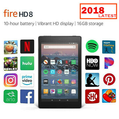 New Amazon Kindle Fire HD 8 Tablet 16 GB 8-inch Display Quad Core with Alexa