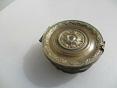"""Victorian French Brass Air Vent Grate Grille Ventilation Old Antique Cap  4.25"""""""